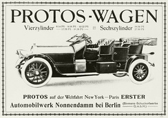 Typ E1 advert in 1908