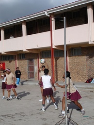 Children playing netball in South Africa