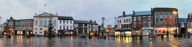 View over the market place of Ripon