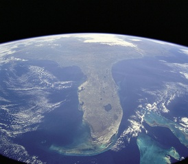 Florida, an example of a peninsula, photo taken during STS-95