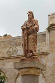 Statue of Saint Jerome (Hieronymus) – Bethlehem, Palestine Authority, West Bank