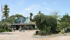 The entrance of the San Diego Zoo, California, May 2007