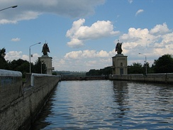 The gateway to the Moscow Canal in Yakhroma