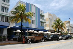 Miami Art Deco District, built during the 1920s–1930s