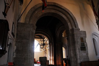 Arches in the southern nave of the Church of St Lawrence, Alton, Hampshire, c. 1070–1100