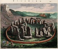 Depiction of Stonehenge in the Atlas van Loon (1649).  So many voters turned up for the Wiltshire election in 1654, that the poll had to be switched from Wilton to Stonehenge. Cooper won the election.