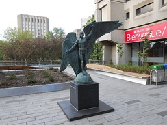 The Falcon, a statue outside of the Humanities and Social Sciences Library, part of the McLennan–Redpath Library Complex