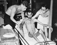 An Indian prisoner of war from Hong Kong after liberation in 1945.