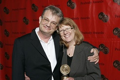 Tom Voegeli and Sarah Lutman at the 67th Annual Peabody Awards for The MTT Files