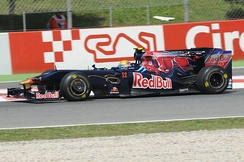 Buemi during free practice at the 2009 Spanish Grand Prix.