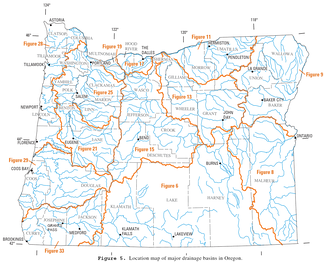 Overview of Oregon river drainage basins