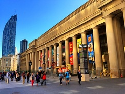 Union Station is a major commuter and inter-city transportation hub in downtown Toronto.