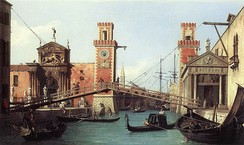 View of the Entrance to the Arsenal, by Canaletto, 1732.