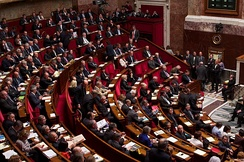 The National Assembly is the lower house of the French Parliament.