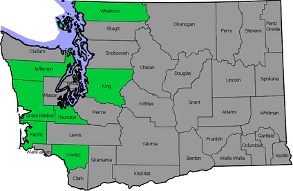 2004 gubernatorial election county map of Washington. Map does not show population or percentile. .mw-parser-output .legend{page-break-inside:avoid;break-inside:avoid-column}.mw-parser-output .legend-color{display:inline-block;min-width:1.25em;height:1.25em;line-height:1.25;margin:1px 0;text-align:center;border:1px solid black;background-color:transparent;color:black}.mw-parser-output .legend-text{}  Won by Rossi   Won by Gregoire
