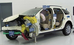 "The 2007 Ford Edge passed this test with the institute's highest rating, ""Good"". The tested Edge is displayed at the institute's headquarters as an example of a standout performer in a frontal offset crash."
