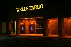 A former Wachovia branch converted to Wells Fargo in the fall of 2011 in Durham, North Carolina