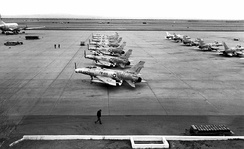 F-100s on the ramp at George AFB