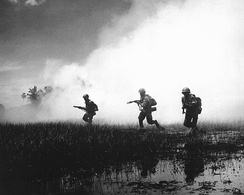 ARVN forces assault a stronghold in the Mekong Delta.