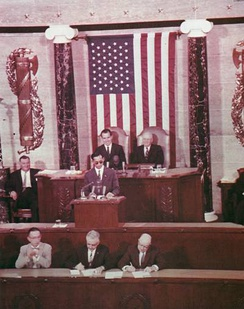 Bhumibol addresses a joint session of the United States Congress, 29 June 1960