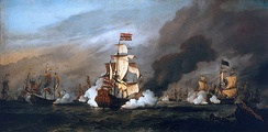 Dutch victory over an Anglo-French fleet at the Battle of Texel, August 1673 ensured their survival.