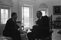 Edward Brooke, left, served in the U.S. Senate from 1967 to 1979.