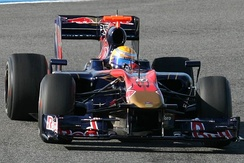 Sébastien Buemi testing the Toro Rosso STR5 during pre-season testing at Circuito de Jerez in 2010