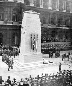 Unveiling of the Cenotaph in London, 1920
