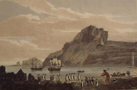 Christmas Harbour, Kerguelens Land, 1811, by the English engraver George Cooke[7]