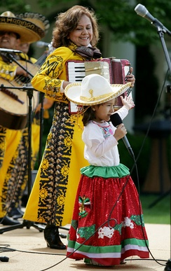 Cinco de Mayo celebration at the White House.In the U.S. the date has become associated with the celebration of Mexican-American culture. In Mexico, the commemoration of the battle continues to be mostly ceremonial, such as through military parades.
