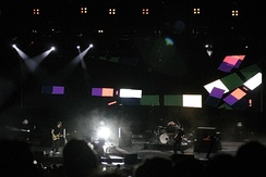 "Coldplay performing ""Clocks"" on the Twisted Logic Tour"