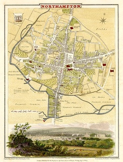 A map of Northampton in 1810
