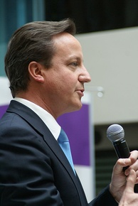 Cameron speaking at the Home Office, on 13 May 2010