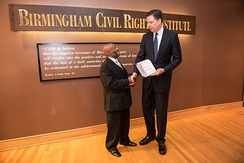 Comey at annual FBI and Birmingham Civil Rights Institute conference, May 25, 2016