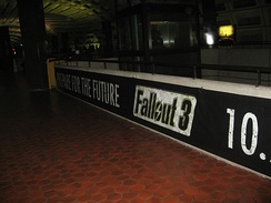 """Prepare for the Future"" promotional campaign at the Metro Center station in Washington, D.C."