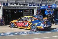 The Ford FG Falcon of Mark Winterbottom at the 2013 Clipsal 500 Adelaide