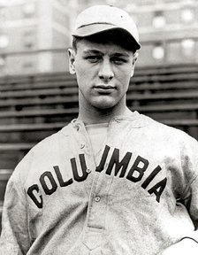 Gehrig on the Columbia University baseball team