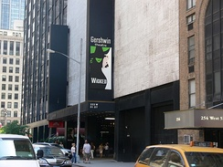 The original Broadway production has been at the Gershwin Theatre since its opening in 2003.