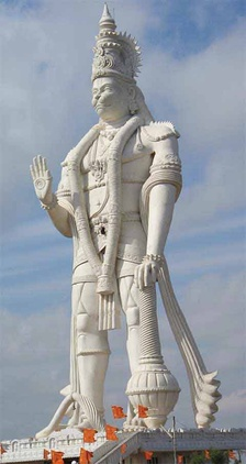 41 meters (135 Ft) high Hanuman monument at Paritala, Andhra Pradesh