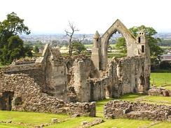 The ruins of Haughmond Abbey, burial place of Alice of Saluzzo