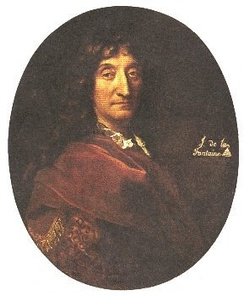 Portrait of La Fontaine attributed to François de Troy