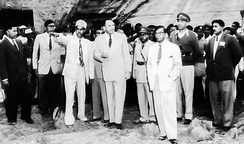 Kaptai dam in East Pakistan being visited by Ayub Khan