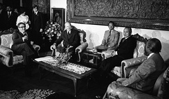 US Secretary of State Henry Kissinger and President Gerald Ford discussed East Timor with President Suharto one day before the invasion.[222]