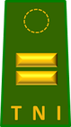 The First lieutenant rank insignia of the Indonesian Army