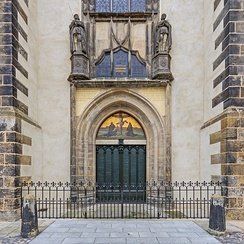 Door of the Schlosskirche (castle church) in Wittenberg to which Luther is said to have nailed his 95 Theses, sparking the Reformation