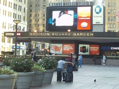 The Madison Square Garden marquee, pictured in 2011