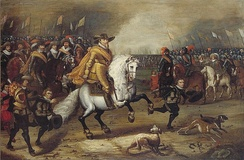 Prince Maurice of Orange during the Battle of Nieuwpoort, 1600
