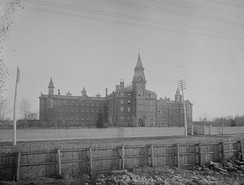 Mercer Reformatory (Toronto, Canada), which opened in 1874 and was Canada's first dedicated prison for women. The reformatory was closed in 1969 due to an abuse scandal.