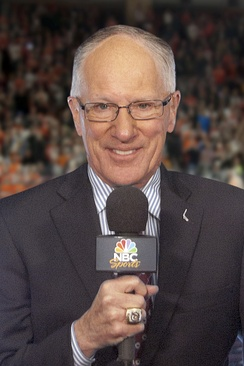 "NBCSN's lead hockey play-by-play announcer Mike ""Doc"" Emrick"