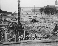 Advanced Construction of the Foundation for the National Archives Building